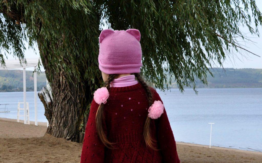 Котошапка из мериноса. Меринос - отличная пряжа для шапки на весну и осень