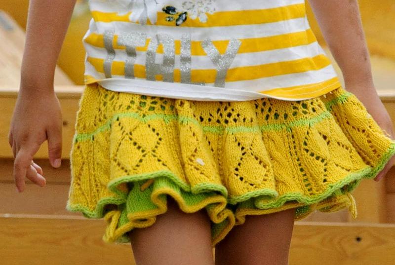 Расчёт вязания юбки - шорт